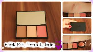 sleek makeup face form contour blush palette review live swatches