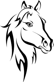 horse head clipart. Unique Horse Horse Head Clipart Black And White  Google Search Throughout Horse Head Clipart