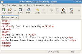 Create first web page on Fedora Core Web Server. | Linux Windows ...