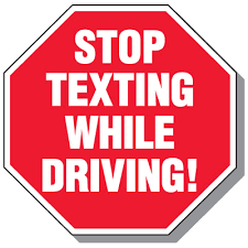 Stop Texting While Driving Cell Phone Law Signs Seton School Safety