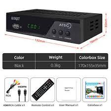 North America Digital Converter Box <b>ATSC Tuner Tv</b> Receiver ...