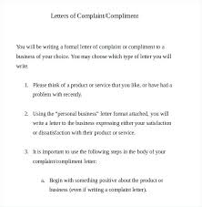 Complaint Template Sample Formal Email To Client Rightarrow Template Database