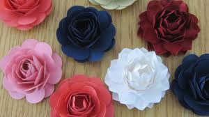 Paper Flower Punches How To Make Paper Flowers With A Punch Youtube