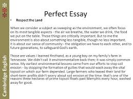 revised fce and cae exams and above all i shall do no harm perfect essay respect the land when we consider a subject as sweeping as the environment