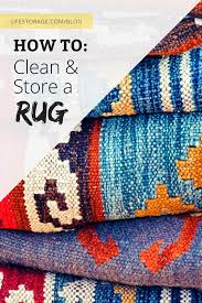 how to clean and a rug