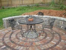circular patio brick patios