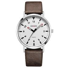 brown simple mens leather watch