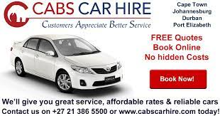 map of south africa cabs car hire