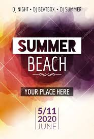 Summer Beach Party Flyer Template Design. Summer Party Design Layout ...