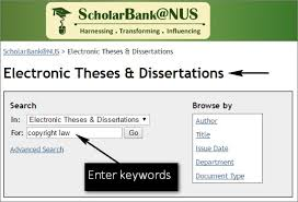 theses law in singapore libguides at national university of  select electronic theses dissertations the list of collections enter relevant keywords in the search box