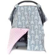infant car seat cover walmart. kids n\u0027 such 2 in 1 car seat canopy cover with peekaboo opening™ - large arrow soft pink dot minky   best for baby girls and boys infant walmart