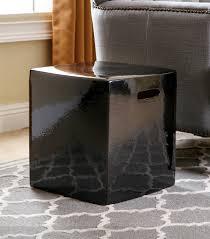 black garden stool. Interesting Stool Palmer Black Ceramic Garden Stool Throughout N
