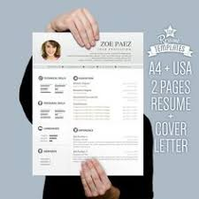 Resume Template, Cv Template For Word + Cover Letter, Creative ...