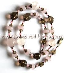 Бусы розовый кварц ... - украшения из натуральных камней