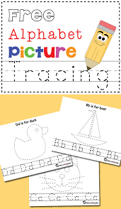 abc tracing sheet free alphabet picture tracing printables totschooling toddler