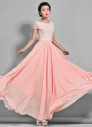 Light Pink Lace Maxi Dress Pink Lace Chiffon Maxi Dress Dresscab