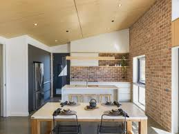 White Kitchen Vaulted Ceiling Wood Beams Houzz Cabinets With Country