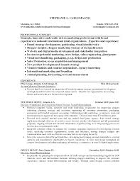 Awesome Collection Of Resume Example For Visual Merchandiser