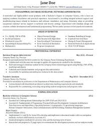 Sample Resume Computer Programmer Senior Programmer Analyst Resume