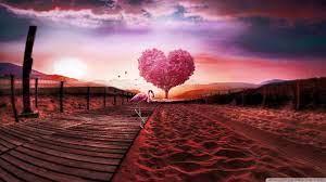 Background Love Heart Ultra HD Desktop ...