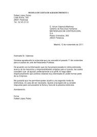 Carta De Presentacion Modelos