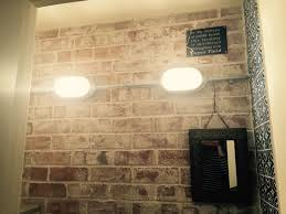 Designer Electrical Conduit Whitewashed Exposed Brick Wall Galvanised Conduit Lighting