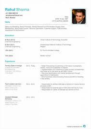 Resume Format Of Resume Templates In 20 Resume Format In Resume