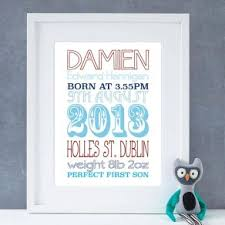 personalised baby christening gifts posters prints