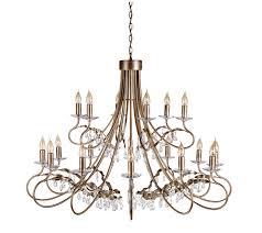 christina 18 light crystal chandelier elstead lighting