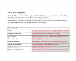 Sales Plan Document Sample Sales Plan 9 Example Format