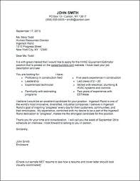 Hvac Resume Examples Career Services Sample Cover Letters Hvac Job