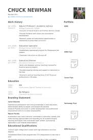 Adjunct Professor Resume samples - VisualCV resume samples database