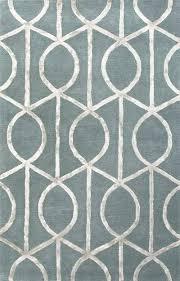 blue gray area rug modern geometric blue gray wool blend area rug socialite in slate blue