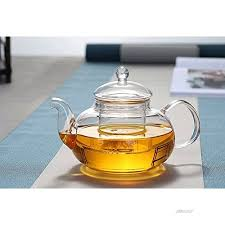 yithings glass teapot 250ml one cup of small tea pot with glass infuser heat resistant for
