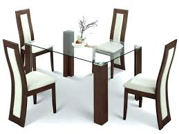 sightly glass top dining table set 4 chairs dining room chairs set of 4 dining table