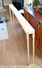 diy behind the couch table with thin sofa table diy sofa table with power