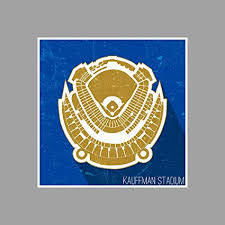 Royals Stadium Seating Chart Amazon Com Artsycanvas Kauffman Stadium Seating Map