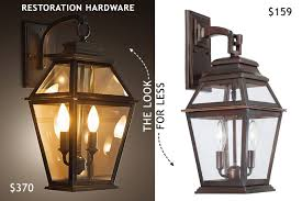 restoration hardware outdoor sconce lantern look for less