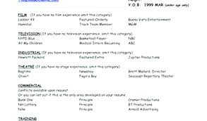 Model Resumes Model Resume Pdf Examples Or Resumes Unique Modeling Example Child