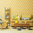 Mustard yellow wallpaper uk