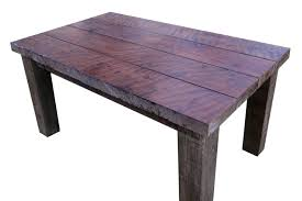Reclaimed Redwood Dining Table Brass Tacks Home