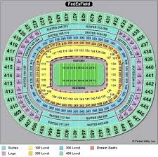 Fedex Field Club Level Seating Chart Washington Redskins Seating View Haban Com Co