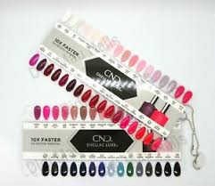 Details About Cnd Shellac Luxe Painted Color Chart Nail Palette 2018 65 Color Sampler
