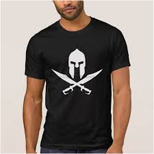 <b>Breathable mens</b> t shirt casque sparte skull pirate 300 rouge t-shirt ...