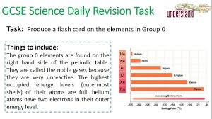 Gcse Science Daily Revision Task 29 Group 0 Elements Gcse
