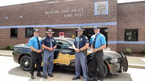 "MSP Bay Region on Twitter: ""Flint Post gets two cadets. From left ..."