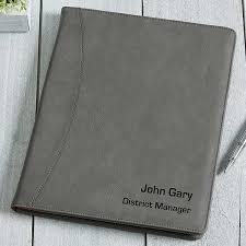 personalized full pad portfolio signature series 16939
