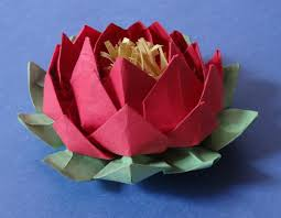 How To Make Big Lotus Flower From Paper How To Make 20 Petal Lotus With Stamen Variation Of Origami Lotus