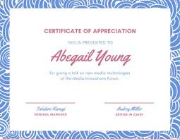 Certificate Of Appreciation Text Customize 75 Appreciation Certificates Templates Online Canva