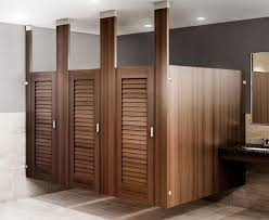 public bathroom doors. Photo 5 Of 7 Ironwood Manufacturing Toilet Partitions And Louvered Bathroom Doors. Clean, Traditional Custom Look For A Public Doors